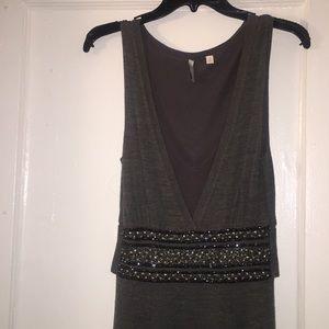Charcoal Grey wool sweater dress